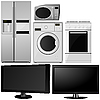 Vector clipart: set of of household appliances.