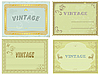 collection of vintage labels.