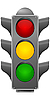 Vector clipart: trafficlight.