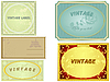 Vector clipart: collection of vintage labels.