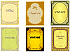 Vector clipart: collection of vintage of vertical labels