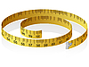Vector clipart: measuring tape with reflection