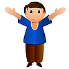 Vector clipart: Boy with open arms
