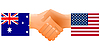 Vector clipart: Sign of friendship the U.S. and Australia
