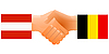 Vector clipart: Sign of friendship the Austria and Belgium