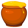 Vector clipart: pot of honey