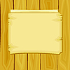 Vector clipart: cartoon announcement on wooden boards