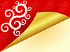 Vector clipart: red background with swirls