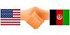 Zeichen der Freundschaft der Vereinigten Staaten und Afghanistan