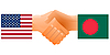 Vector clipart: sign of friendship the United States and Bangladesh