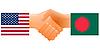 Zeichen der Freundschaft der Vereinigten Staaten und Bangladesch
