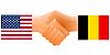Zeichen der Freundschaft der Vereinigten Staaten und Belgien