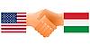 Zeichen der Freundschaft der Vereinigten Staaten und Ungarn
