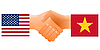 Vector clipart: sign of friendship the United States and Vietnam