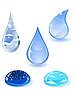 Vector clipart: set of water drops