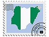 Vector clipart: stamp with the image maps of Nigeria