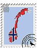 Vector clipart: stamp with the image maps of Norway