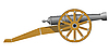 Vector clipart: An old cannon