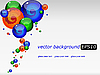 Vector clipart: background with colored futuristic drops