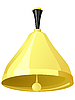 Vector clipart: gold hand bell