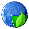 Vector clipart: the globe with parts of water and land