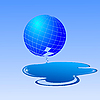 Vector clipart: globe with leaky water