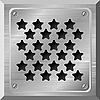 Vector clipart: metal plate with holes in the form of s