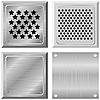 Vector clipart: Set of metal plates.