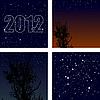 Set Hintergrund Sternenhimmel