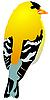 Vector clipart: Beautiful yellow bird.