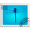 Stamp. Dragonfly.