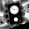 Vector clipart: abstract background with clock