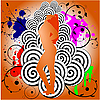 Vector clipart: abstract background with dancing girl