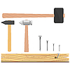 Vector clipart: set of hammers