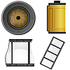 Vector clipart: Set of objects for photo