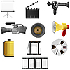 Vector clipart: cinema and photo set