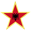 Vector clipart: Gold star with flag of Albania