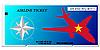 Vector clipart: ticket to Vietnam