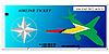 Vector clipart: ticket to Guyana
