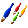 Vector clipart: Collection of s of color brushes