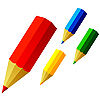 Vector clipart: Colored pencils