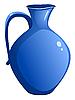 Vector clipart: Blue ceramic pitcher.