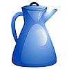 Vector clipart: Blue coffee pot.