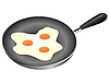 Vector clipart: Pan fried.