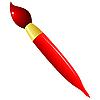 Cepillo rojo | Ilustración vectorial