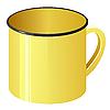 Gelbe Emaille-Becher | Stock Vektrografik