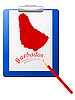 Vector clipart: the clipboard with map of Barbados