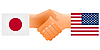 Vector clipart: Sign of friendship the United States and Japan