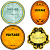 Vector clipart: collection of vintage oval label.