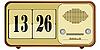 Vector clipart: old clock radio